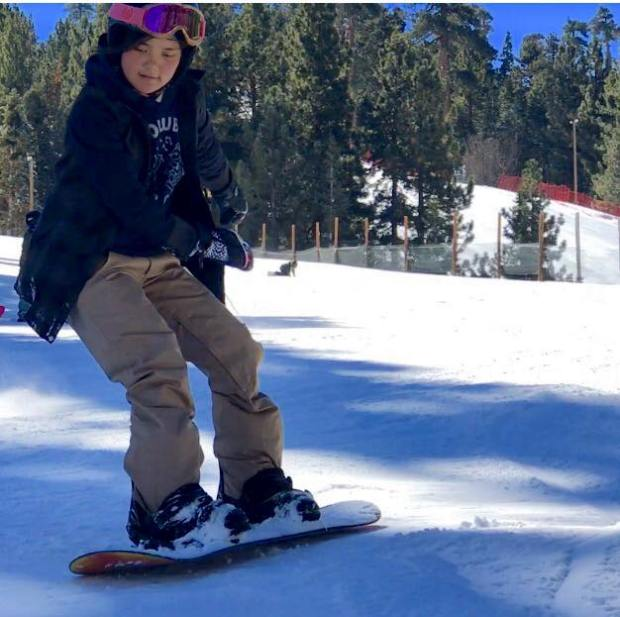 Katie Janechek, 13 of Costa Mesa, hits the slopes for ski week. Photo courtesy of Susan Janechek.