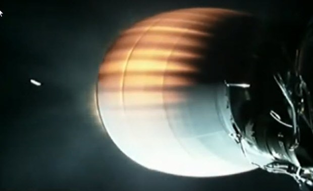 SpaceX's Falcon 9 rocket deploys its fairing early Thursday. Photo: SpaceX