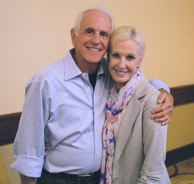 Dr. John West with his wife Dr. Jan West, who survived breast cancer.