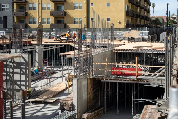 A development takes shape in the NoHo Arts District. (Photo by David Crane, Los Angeles Daily News/SCNG)