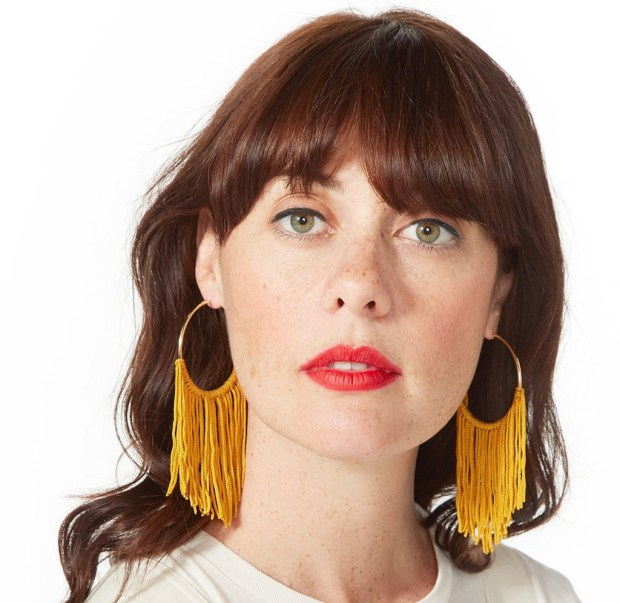 Pick up a pair of large hoop tassel earrings from ban.do, normally $30, now $7.50. (Photo courtesy of ban.do).