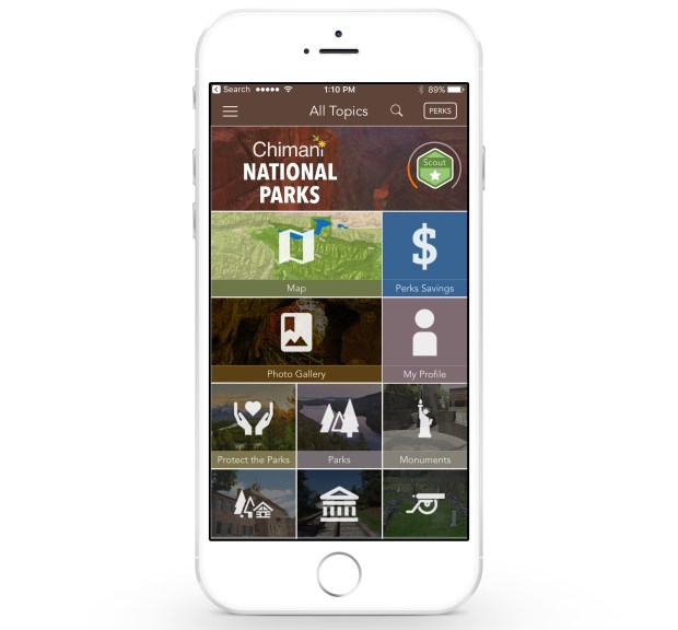Chimani, a free mobile app guide for national parks, has expanded its discount club. (Photo courtesy of Chimani Inc.).