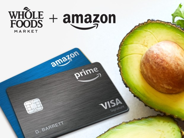 Amazon Rewards Visa Cardholders will now get 5 percent back when shopping at Whole Foods Market. (Photo courtesy of Amazon).