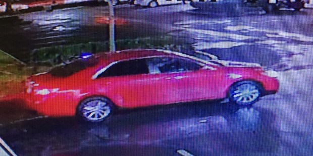 Santa Ana police released surveillance footage of a suspect who attacked a woman during a robbery and fled in a vehicle, shown here, on Monday, Feb. 12. (Photo Courtesy of the Santa Ana Police Department)
