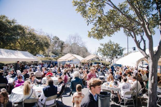 Several hundred people gather Sunday, March 4 to celebrate Heritage Christian Fellowship's 25th anniversary (Courtesy of HCF)
