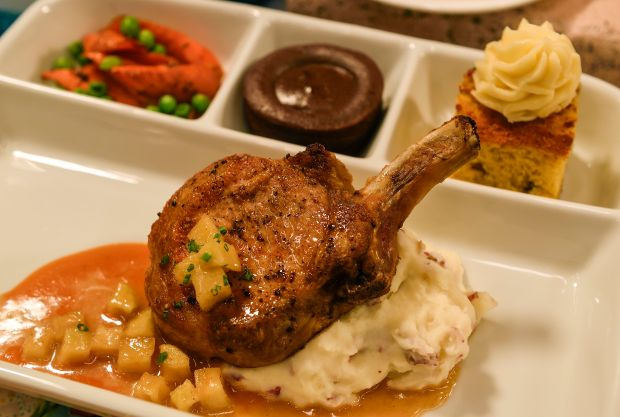 """Pixar Fest Food: """"Up""""-inspired T.V. dinner available at Carnation Cafe at Disneyland in Anaheim. (Photo by Jeff Gritchen, Orange County Register/SCNG)"""
