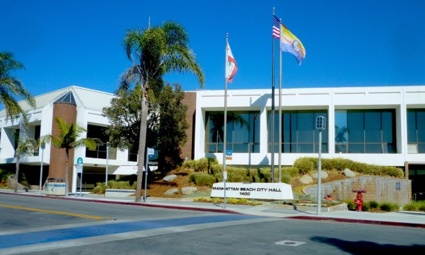 The fourth Manhattan Beach City Hall opened in 1975. Photo by Sam Gnerre