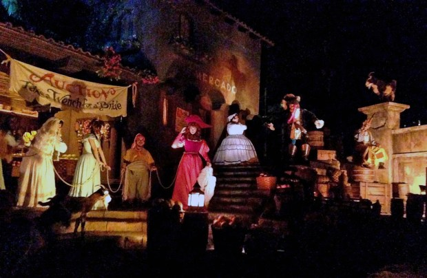 "The auction scene in Pirates of the Caribbean at Disneyland. The scene is famous for the line spoken by pirates ""We wants the Redhead"" as heard by riders in the boats. (File photo by: Bruce Chambers, Orange County Register/SCNG)"
