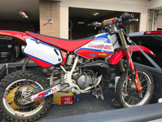This 1998 Honda CR 80, which was stolen in 2001, was returned to its rightful owner in Riverside. (Courtesy)