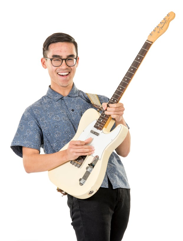 Andrew Pham of Orange County School of the Arts is a instrumental music semi-finalist in the specialty of commercial music. (Photo by Leonard Ortiz/Orange County Register/SCNG)