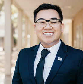 Andrew Vo is president of Cal State Fullerton's PRSSA campus chapter, which will host a regional conference April 6-7. (Photo courtesy of Andrew Vo)