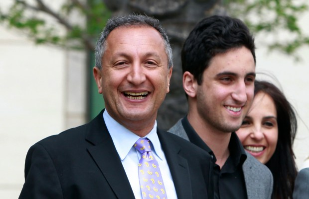 MGA CEO Isaac Larian, left, whose Van Nuys-based company makes the pouty Bratz dolls, is launching a campaign to salvage some of Toys R Us' U.S. business being liquidated in bankruptcy. (AP Photo/Christine Cotter, File)