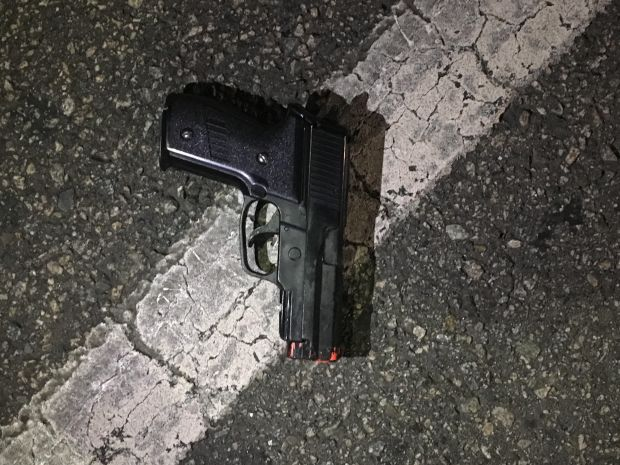 Police said this is the handgun the man had in his possession during a standoff on Ocean Boulevard on Wednesday. (Photo courtesy of Long Beach Police Department)
