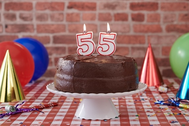 Portillo's will be serving slices of its popular chocolate cake for 55-cents on April 4. (Photo courtesy of Portillo's).