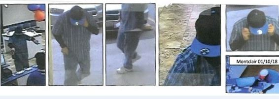 Photos released of a man suspected of committing more than 40 robberies over eight months in San Bernardino, Orange and Los Angeles counties. (Photos courtesy of Fontana Police Department)