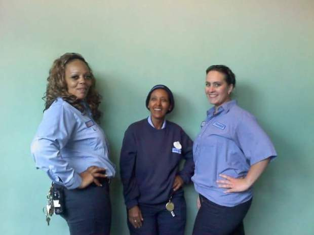 "Yeweinishet ""Weini"" Mesfin, a night janitor at Disneyland Resort, poses with coworkers at Disneyland Resort. Mesfin was homeless and living out of her car, a secret she kept from family and coworkers. She died in her car in late 2016. (Photo courtesy of Mindy Martin)"