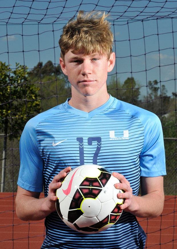 Sebastian Hertel of University is part of the Orange County Register's All-County boys soccer team and player of the year.(Photo by Michael Fernandez, Contributing Photographer)