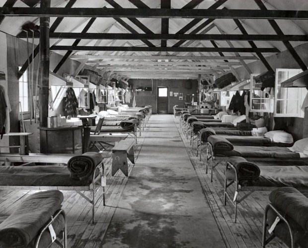 Barracks at the Tuna Canyon detention center. Photo courtesy of Merrill H. Scott Family