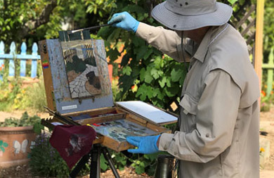 A plein air painting class will be held as part of the Fullerton Arboretum's Green Scene weekend. (Photo courtesy of Cal State Fullerton)