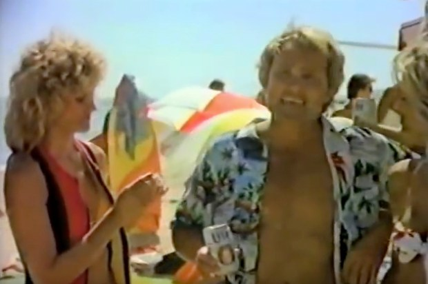 """Back in the '80s and '90s, Corky Carroll joined other athletes in the popular """"Tastes Great"""" vs. """"Less Filling"""" promotional campaign for Miller Lite. (YouTube)"""