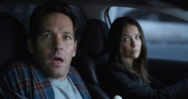 Marvel Studios' ANT-MAN AND THE WASPL to R: Scott Lang/Ant-Man (Paul Rudd) and Hope van Dyne/The Wasp (Evangeline Lilly) Photo: Film Frame ©Marvel Studios 2018