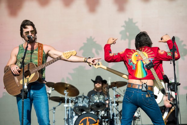 Midland performs on the Mane Stage at the Stagecoach Country Music Festival at the Empire Polo Club in Indio on Saturday, April 28, 2018. (Photo by Matt Masin, Contributing Photographer)