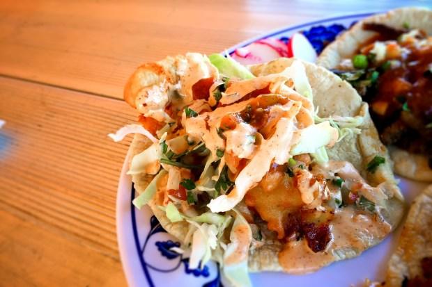 Fried shrimp taco at Taqueria el Zamorano in Santa Ana. (Photo by Brad A. Johnson, Orange County Register/SCNG)