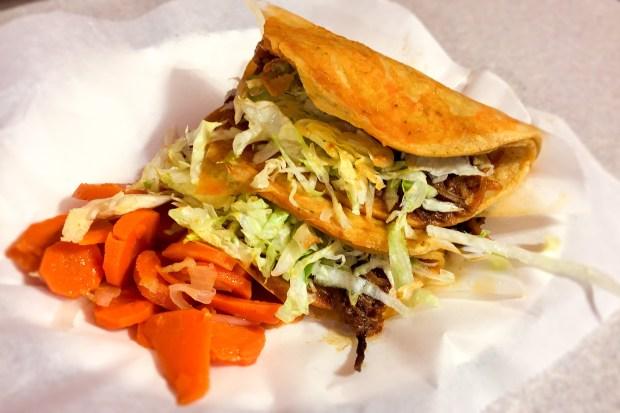 Shredded beef tacos al vapor at Tito's La Especial in Santa Ana. (Photo by Brad A. Johnson, Orange County Register/SCNG)