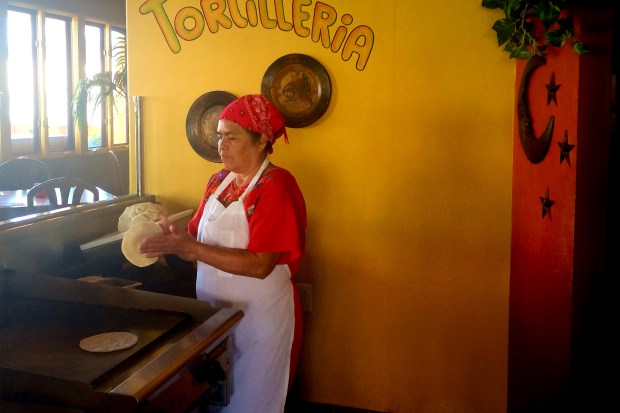 Fresh tortillas made by hand, made to order, at La Choza in Huntington Beach. (Photo by Brad A. Johnson, Orange County Register/SCNG)