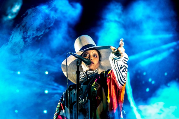 Erykah Badu performs during FYF Fest at Exposition Park in Los Angeles on Saturday, July 22, 2017. She will be performing at the Demon Dayz Festival in Pico Rivera Oct. 20. (Photo by Watchara Phomicinda, The Press-Enterprise/SCNG)