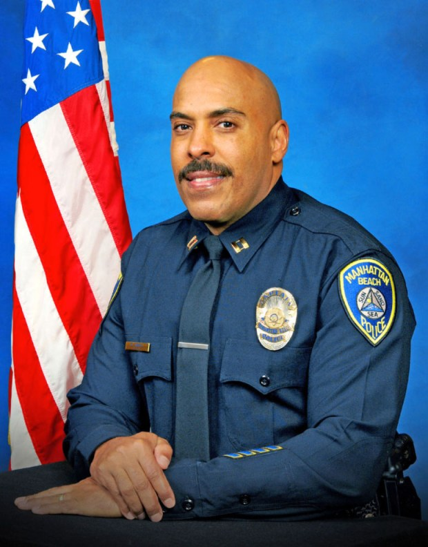Manhattan Beach Police Chief Derrick Abell, shown in this file photo, has been named as the fire department's interim chief.