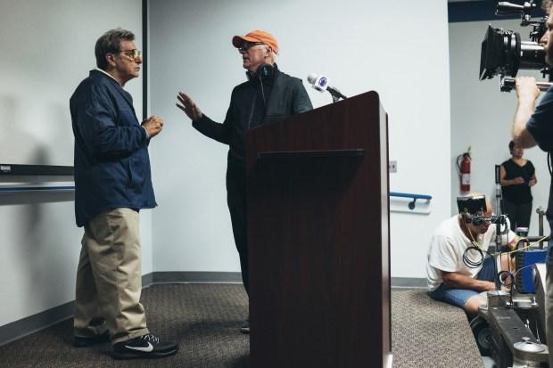 Behind the Scenes: Al Pacino, Barry Levinson.photo: Atsushi Nishijima/HBO