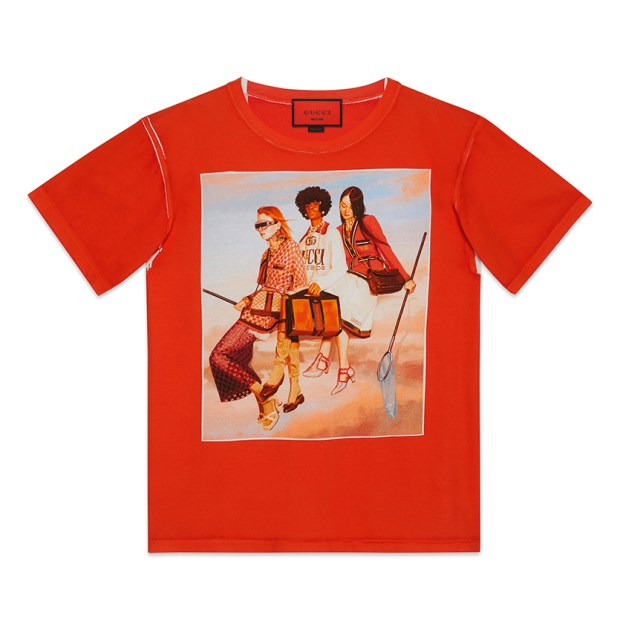 Gucci blends fantasy with fearless fashion choices. For summer, Alessandro Michele released the limited-edition Hallucination collection featuring artworks by Ignasi Monreal on cotton jersey T-shirts andsweatshirts. $790 Gucci, South Coast Plaza 714.754.9600 :: gucci.com :: southcoastplaza.com