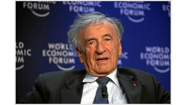 Elie Wiesel, 2008. (Photo by Remy Steinegger/Creative Commons Attribution-Share Alike 2.0 Generic)