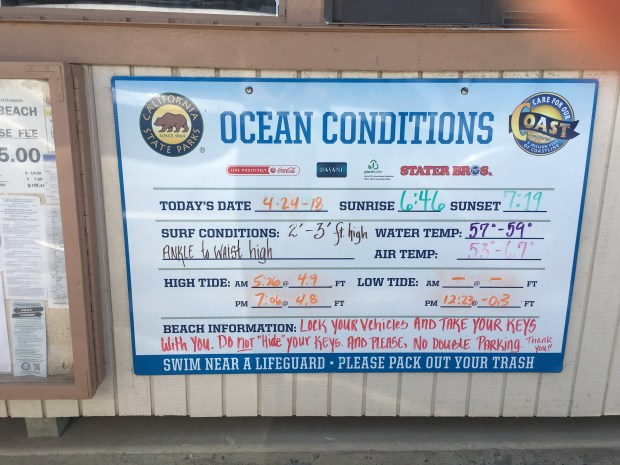 A warning at the entrance to the popular, tucked away surf break tells beachgoers about break ins. Photo: Laylan Connelly