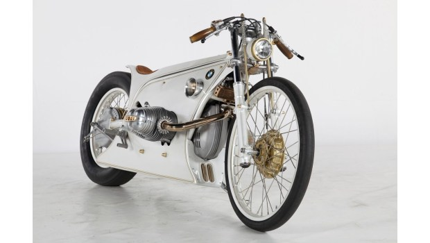 Kingston Custom 'White Phantom' (2016) is one of the custom motorcycles on display in the new Custom Revolution exhibit at the Petersen Automotive Museum in Los Angeles. (Photo courtesy of Kingston Custom)