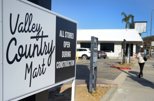 Runyon Group announced the launch of Valley Country Mart on Ventura Boulevard, a site of the former Cable's Restaurant. The company says the plaza will house gardens, fountains, parking lot and a gathering space. (Photo by Dean Musgrove, Los Angeles Daily News/SCNG)