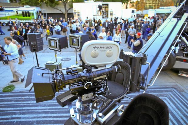 "Industry specialists gather at the launch of ""Film Works"" Monday in Downtown Los Angeles. The Film Works hopes to help keep filming in Los Angeles. Photo by David Crane/Los Angeles Daily News."