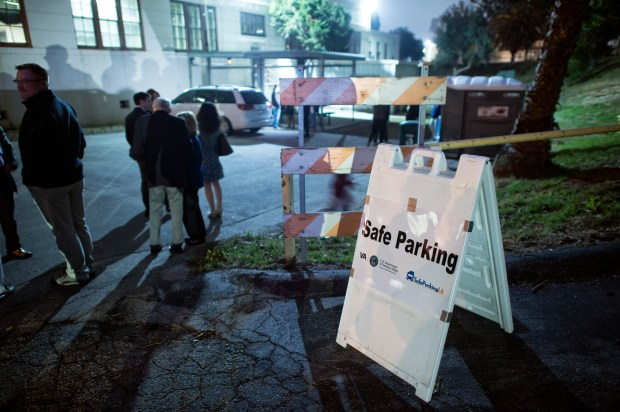 The West LA Veterans Affairs campus offers a Safe Parking program for homeless people who live in their vehicles. (Photo by Hans Gutknecht, Los Angeles Daily News/SCNG)