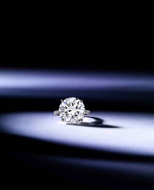 A 10 carat diamond solitaire ring available at the Bonhams New York fine jewelry sale on April 17.