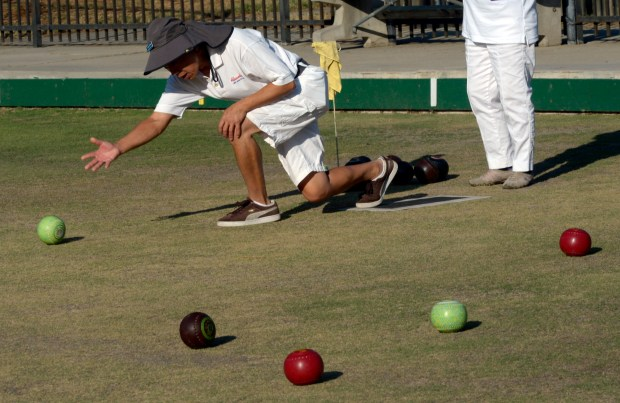 Both the Santa Ana Lawn Bowling Club and the Pasadena Lawn Bowling & Croquet Club invite people to visit. File photo of the Almansor Lawn Bowling Club at Almansor Park in Alhambra, Calif., July 6, 2016. (Photo by Keith Birmingham/ Pasadena Star-News)