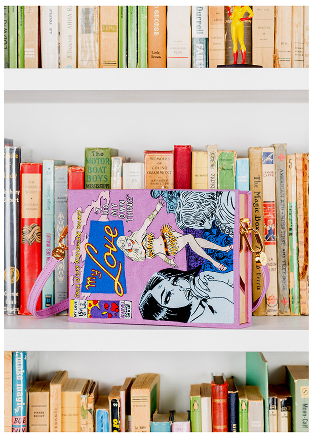Olympia Le Tancontinues to fill her library with these vivid book clutches. $3,060 :: olympialetan.com