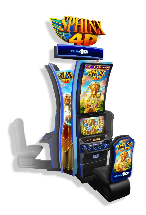 The Sphinx 4D video slot machine debuted at Pechanga Resort & Casino in March. (Courtesy of Pechanga Resort & Casino)