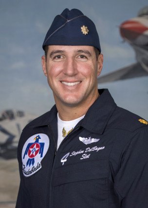 Air Force Thunderbirds pilot Maj. Stephen Del Bagno was killed April 4, 2018, in a training crash in Nevada. (Courtesy of U.S. Air Force)