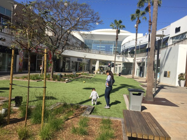 "The new ""village green"" at Del Amo Fashion Center will host a summer concert series."