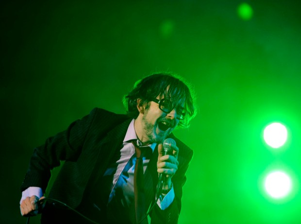 Jarvis Cocker, shown here performing with Pulp at the 2012 Coachella Valley Music and Arts Festival in Indio, will bring his new project Jarv Is... to Desert Daze at Lake Perris in October.  (File photo by Rodrigo Peña)