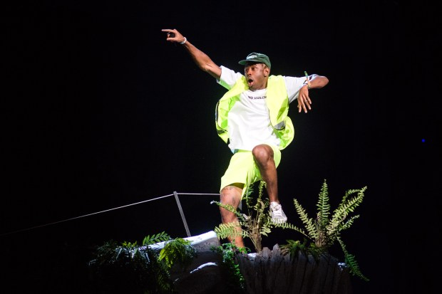 Tyler, the Creator performs on the Coachella Stage during Coachella Valley Music and Arts Festival at the Empire Polo Club, in Indio, Calif. on Saturday, April 14, 2018. (Photo by Watchara Phomicinda, The Press-Enterprise/SCNG)