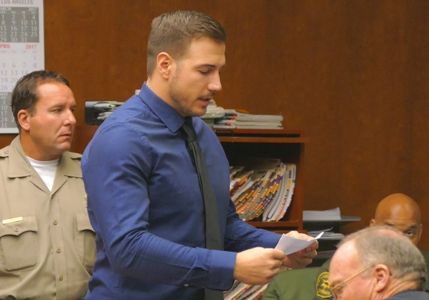 David Scott Pedersen apologizes in Torrance Superior Court to the families of two young people killed in a traffic accident in January 2017. Pedersen was sentenced to six years in state prison. Photo by Brad Graverson/The Daily Breeze/SCNG