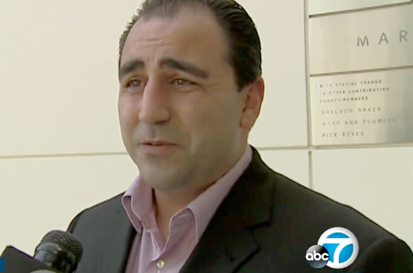 Glendale police Detective John Saro Balian was arrested Tuesday, May 15, 2018, on charges that he lied about working as an informant for the Mexican Mafia and Armenian organized crime in 2008. (2008 photo courtesy of ABC7)
