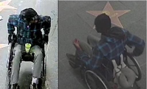 Police are searching for this man who is believed to have stabbed another man in Hollywood at about 10 a.m. Saturday outside a gift shop in the 6600 block of Hollywood Boulevard. (Courtesy)
